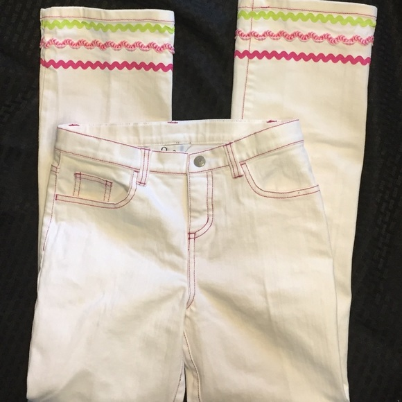 Lilly Pulitzer Other - Lily Pulitzer White Girls Jeans Like New Size 12